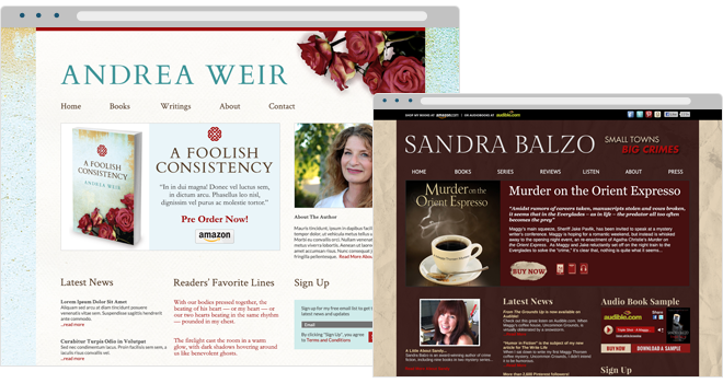 Inspirational Author and Book Websites: Andrea Weir & Sandra Balzo