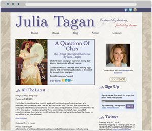 Julia Tagan Author Website