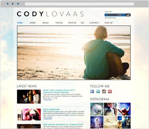 Cody Lovaas Musician Website