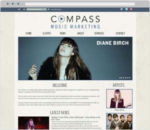 Compass Music Marketing Label Website