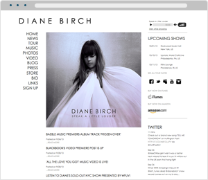 Diane Birch Musician Website