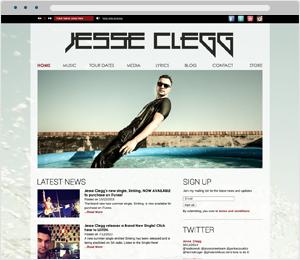Jesse Clegg Musician Website