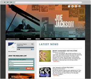 Joe Jackson Musician Website