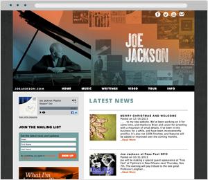 Joe Jackson Musician Website