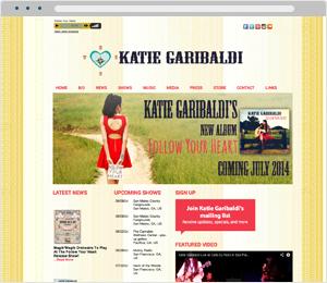 Katie Garibaldi Musician Website