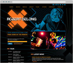 Rober DeLong Musician Website
