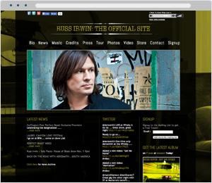 Russ Irwin Musician Website
