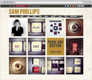 Sam Phillips Musician Website