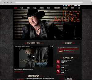 Tracy Lawrence Musician Website