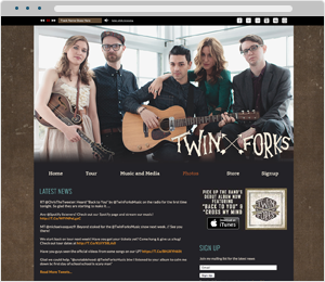 Twin Forks Band Website