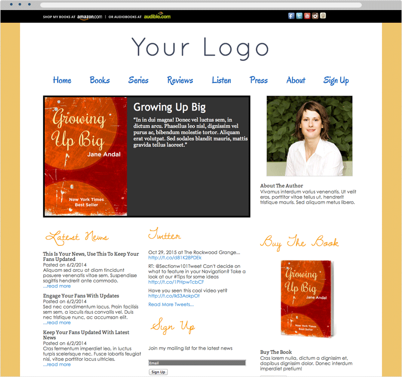Amazing Author and Book Website Templates | Section 101